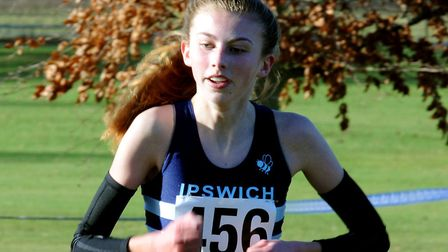 Holly Fisher, who was fifth in the intermediate girls' 1,500m steeplechase at the English Schools Tr