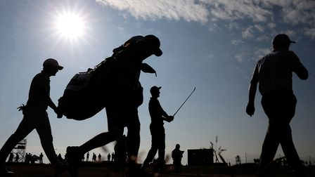 Lovely weather at the Open.... hot days, hard fairways Photo: PA