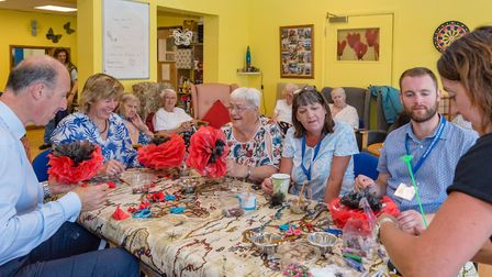 A workshop by the Crafty Foxes to create poppes from recycled material which are to go on display in