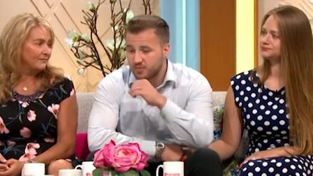 Corrie McKeague's brother Darroch appearing on Lorraine's TV show with Leah McElrea and his mother N