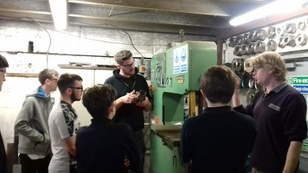 Porch Project, Hadleigh - engineering trip to Demand Engineering