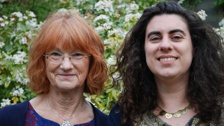 Cherry Wilkinson, left, and Kirsty Hartsiotis, authors of Suffolk Ghost Tales. Picture: David Wilki