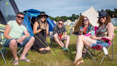 Early arrivals at last year's festival Picture: PAUL JOHN BAYFIELD