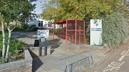 The incident happened outside Place Farm Primary Academy in Haverhiil Picture: GOOGLE