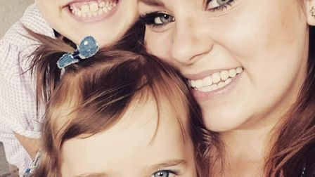 Ame Jenkins with daughters Lilee and Ellyse Picture: SUPPLIED BY FAMILY