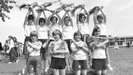 Youngsters became cheer leaders for the day Picture: ARCHANT