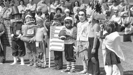 Children take part in an American-themed fancy dress parade at the event in 1981 Picture: ARCHANT