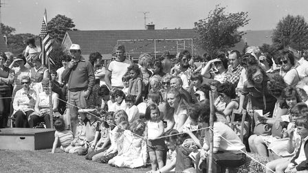 Crowds enjoy the Kesgrave USA Event in 1981 Picture: ARCHANT