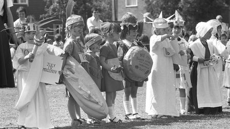Youngsters dressed as Staues of Liberty, red indians and new world residents at the event Picture: A
