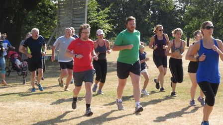 Action from Saturday's Ipswich parkun, at Chantry Park. It was hot work for a field of 263 runners,