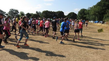 Runners set off at the start of the 305th Ipswich parkrun on Saturday. Picture: IPSWICH PARKRUN FACE