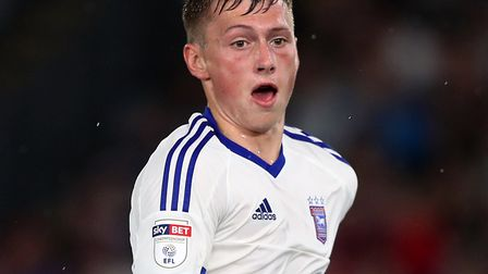 Ben Morris made his full Ipswich Town debut in the 2-1 defeat at Nottingham Forest back in April. Ph