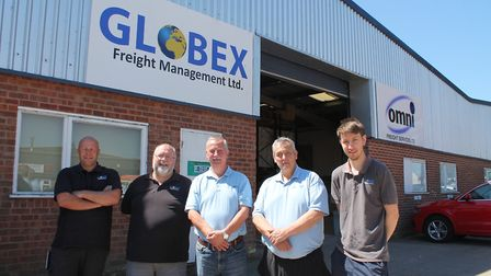 The new Globex Freight Management team from left, Carl Hawes, Shaun Rudduck, Andy Wilding, Ian Wildi