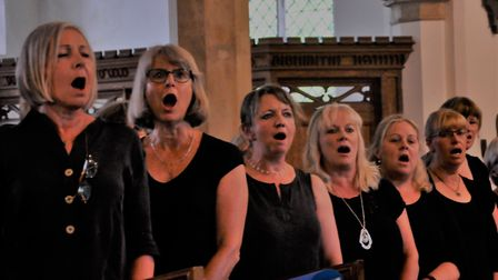 Sing Out Yoxford perform at St Peter's Church Picture: PAT WALLACE