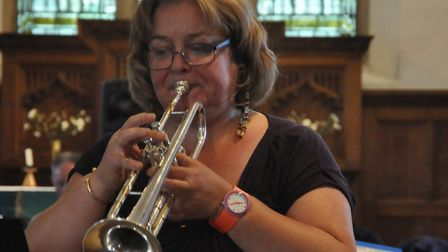 The concert included segements of English baroque trumpet Picture: PAT WALLACE