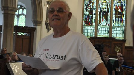 More than �600 was raised for the Brainstrust charity Picture: PAT WALLACE