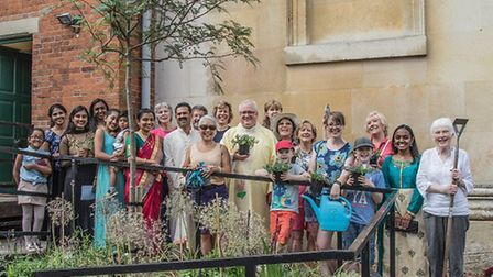 The St Edmunds Gardening Project group. Picture: JO SWEETMAN