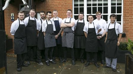 The kitchen team at The Unruly Pig Picture: TIM BOWDEN