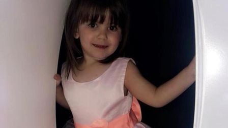 Ava-may Littleboy, three, from Somersham, died after being thrown from an inflatable trampoline Pict