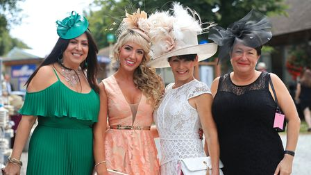 Racegoers arrive for day one of The Moet & Chandon July Festival at Newmarket Racecourse Picture: SI