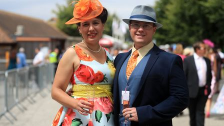 Racegoers at The Moet & Chandon July Festival at Newmarket Racecourse Picture: SIMON COOPER/PA