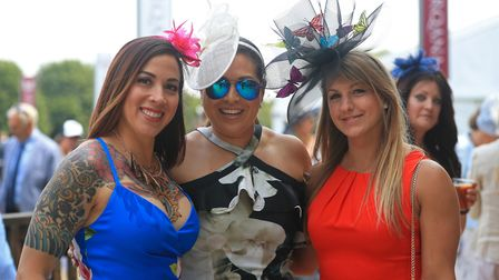 Stunning outfits for the racegoers Picture: SIMON COOPER/PA