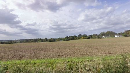 Cuckoo Hill in Bures, where 15 acres of land is alight Picture: GOOGLE MAPS