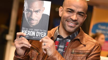 Kieron Dyer's book launch at Portman Road this year Picture: GREGG BROWN