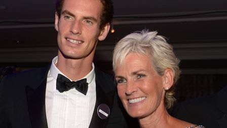 Andy Murray and mother Judy. Picture: Adam Davy/PA