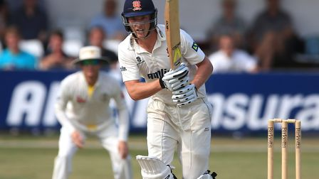 Essex batsman Tom Westley, who top-scored with 37 in his first appearance of the summer for Mildenha