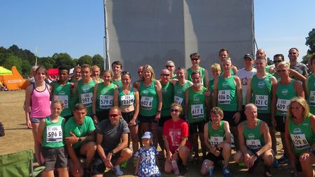 The Colchester Harriers squad who enjoyed such huge success at the Ipswich JAFFA Ekiden Relays last