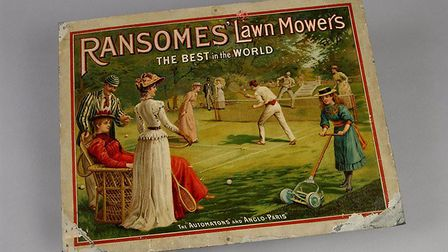 Advertising material, such as this Ransomes sign, were used to spread news of new technologies � and