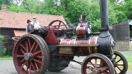 The Empress of Britain is a steam traction engine held at the Museum of East Anglian Life. It was us