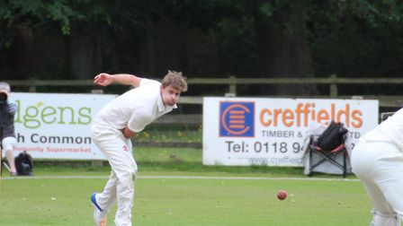 Kyran Young, in action for Suffolk. He took three second-innings wickets in Suffolk's win over Bedfo