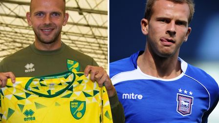 Jordan Rhodes is now a Norwich City player, having started his career at Ipswich Town. Picture: Norw
