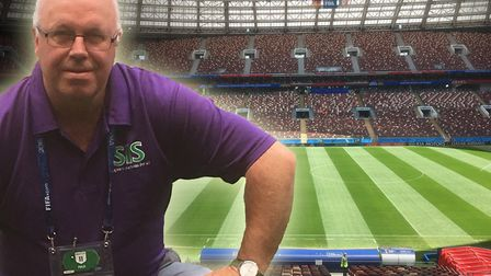 Alan Ferguson has been working tirelessly in Russia on the pitches for the World Cup.