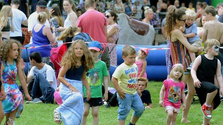 All ages enjoy a mass aerobics work out at the 2016 Party in the Park event Picture: ANDY ABBOTT