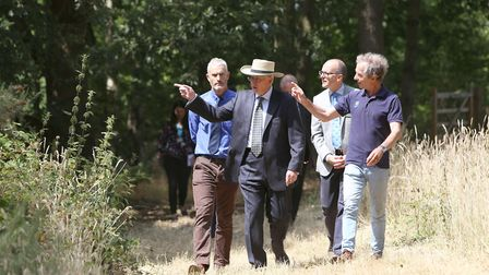 Duke of Gloucester visits Sutton Hoo Picture: PHIL MORLEY