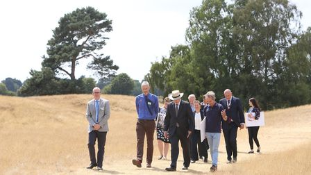 HRH the Duke of Gloucester visits Sutton Hoo Picture: PHIL MORLEY