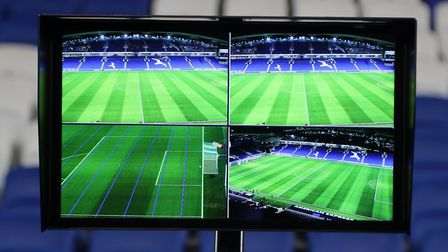 The Video Assistant Referee made its presence felt. Picture: GARETH FULLER/PA WIRE