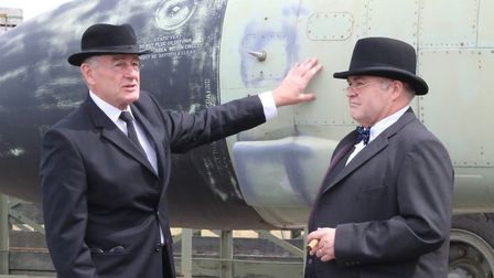 Phil Cory as Winston Churchill and Dennis Bowron as Harry Truman Picture: GILL ATACOCUGU