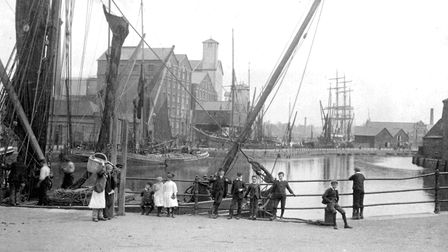 Ipswich Dock and New Cut from Stoke Bridge in the 1880s Picture: DAVID KINDRED