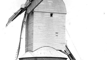 This windmill stood on Stoke Hill, Ipswich, until it was dismantled in 1880s Picture: DAVID KINDRED
