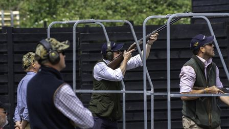 The winning team from Padleys in action at High Lodge shooting range Picture: GRAHAM DOWN