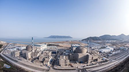 The first reactor to go live at Taishan in China is one of two, pictured, off the south China Sea. T