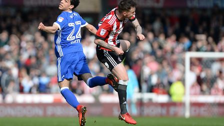 Tristan Nydam in action against Brentford last season Picture Pagepix