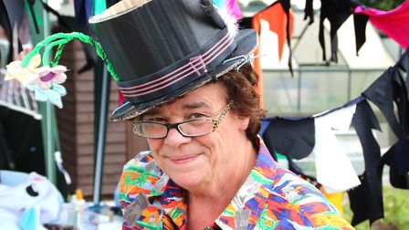 Stall holders dressed up like characters from Alice in Wonderland Picture: SAM THURLOW