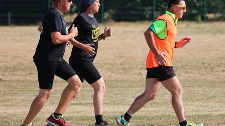 In a line: Runners dig deep during Saturday's 232nd staging of the Great Cornard parkrun. Picture: G