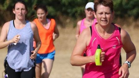 Nicola Daly Ashworth was one of the many runners battling with the heat at Saturday's Great Cornard