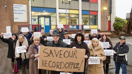 The Save Our record Office campaign group Picture: NICK BUTCHER